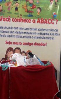 Material de higiene e limpeza arrecadado para ABACC